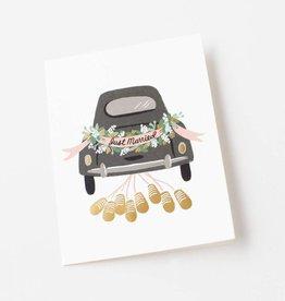 Rifle Paper Just Married Getaway Card