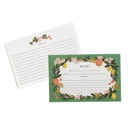 Rifle Paper Citrus Floral Recipe Cards