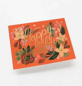 Rifle Paper Poinsettia Holiday Card