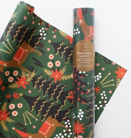 Rifle Paper Reindeer Wrap, Roll