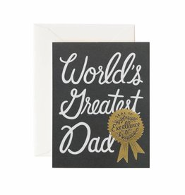 Rifle Paper World's Greatest Dad Card