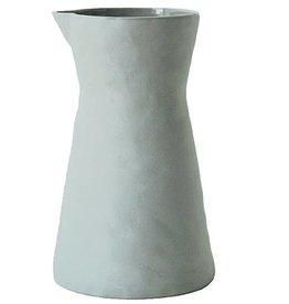 BE Home Light Gray Stoneware Carafe