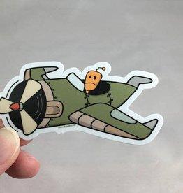 Andrea K Doodles Auto Pilot Sticker