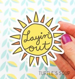 Turtle's soup Layin' Out Sticker