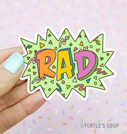 Turtle's soup Rad 90's Sticker