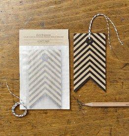 Katie Leamon Kraft Stripe Tags, 6/pk