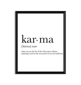 Footnotes Studio Art Print - Karma