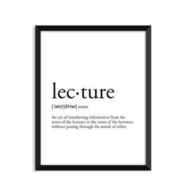 Footnotes Studio Art Print - Lecture