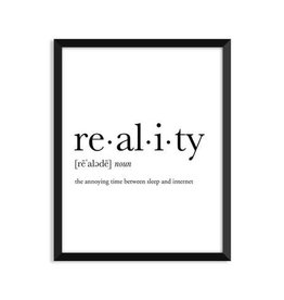 Footnotes Studio Art Print - Reality