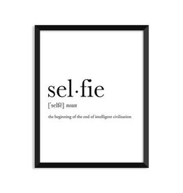 Footnotes Studio Art Print - Selfie