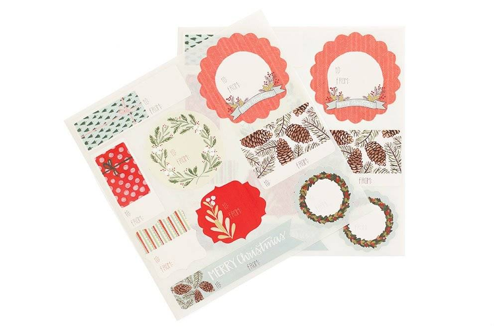 1Canoe2 Holiday Gift Tag Stickers