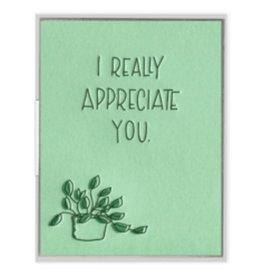 Ink Meets Paper I Appreciate You Card