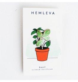 Hemleva Hem - Basil Enamel Pin