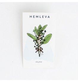 Hemleva Thyme Enamel Pin