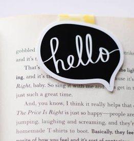 Crafted Van Hello Word Bubble Jumbo Magnetic Bookmark