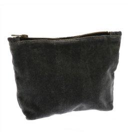 HomArt Velvet Pouch, Dark Gray