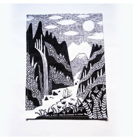 Forest and Waves Loch and Fjord Tea Towel