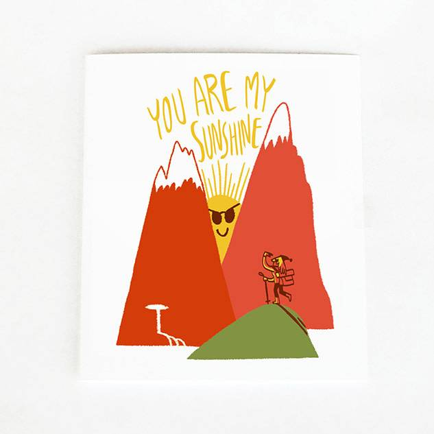 Forest and Waves Sunshine Card