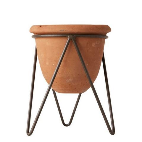 Creative Co-op Terracotta Pot w/ Stand