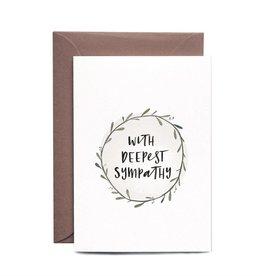 In the Daylight Sympathy Wreath Card