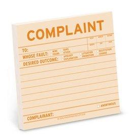 Knock Knock Sticky Notes: Complaint