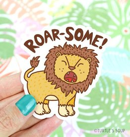 Turtle's soup Roar-some Lion Sticker