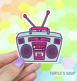 Turtle's soup Boombox Radio Sticker