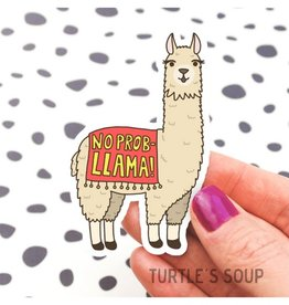 Turtle's soup No Prob-llama Sticker
