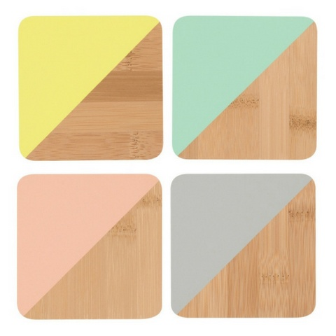 Now Designs Coaster Dipped Angle Multicolor, Set/4