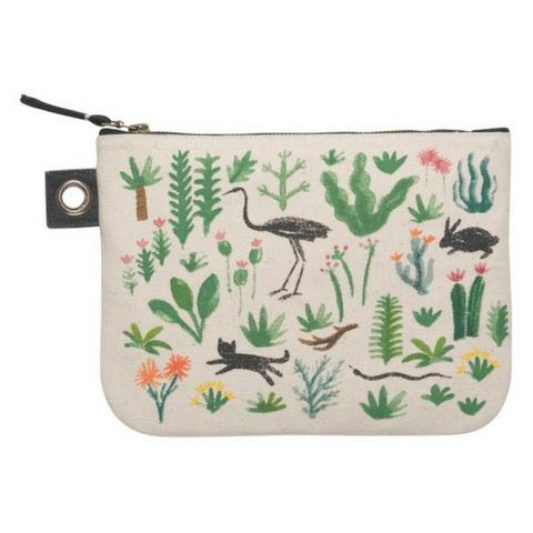 Now Designs Secret Garden Zip Pouch, Lg