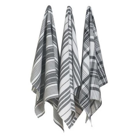 Now Designs Pure Kitchen Black Tea Towels