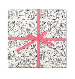 Page Stationery B&W Floral Gift Wrap