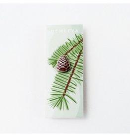 Hemleva Pine Cone Enamel Pin