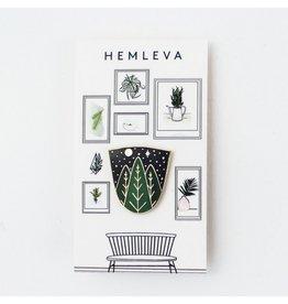Hemleva Starry Night Enamel Pin