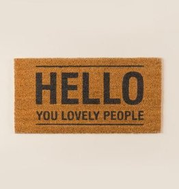 Bloomingville Doormat 'Hello""