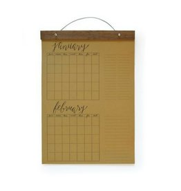 Wild Ink Press Write-in Calendar, Kraft