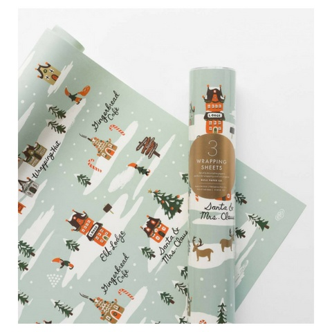 Rifle Paper North Pole Wrap, Roll