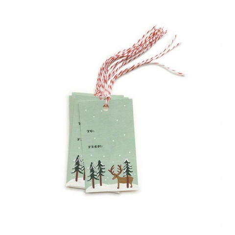 Rifle Paper Reindeer Gift Tags, Pk/10