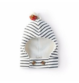 Hazel Village Striped Balaclava, 0-6M