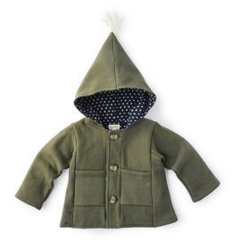 Hazel Village Forest Green Jacket, 0-6M