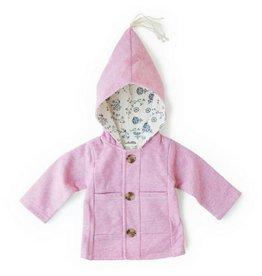 Hazel Village Pink Clover Jacket, 0-6M