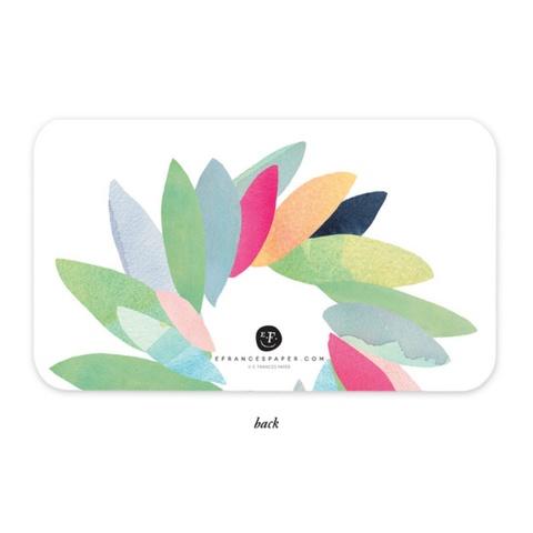 E. Frances Little Notes: Colorful Wreath