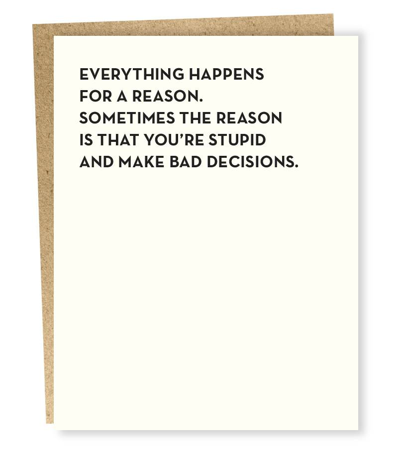 Sapling Press Moment of Truth: Bad Decisions