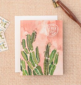 Antiquaria Coral Cactus Card