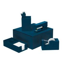 Talking Out Of Turn Desk Set - Navy Blue