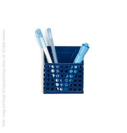 Design Ideas Magnetic Pencil Bin, Navy