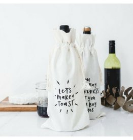 In the Daylight Make a Toast Wine Bag