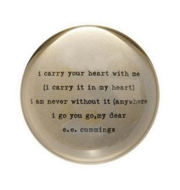 SugarBoo Designs Paper Weight - I Carry Your Heart