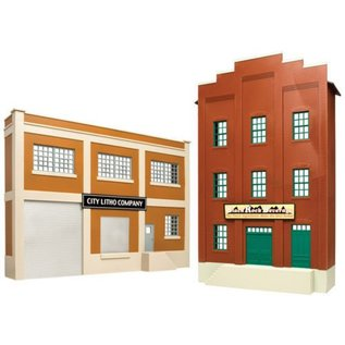 Atlas O Atlas O  Back Drop Buildings 2 pack   2717
