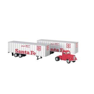 Bachmann Bac  1950's Truck w/piggyback trailers  SF   42232